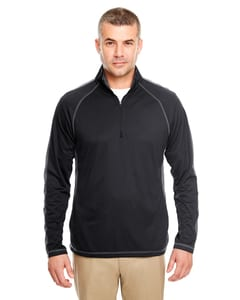 UltraClub 8398 - Adult Cool & Dry Sport Quarter-Zip Pullover with Side and Sleeve Panels