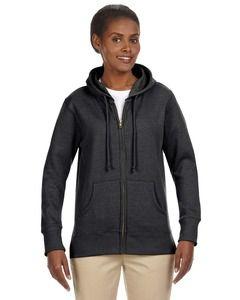 econscious EC4580 - Ladies Organic/Recycled Heathered Fleece Full-Zip Hooded Sweatshirt