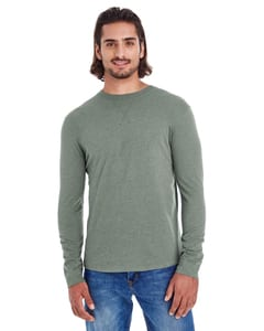 econscious EC1588 - Mens Heather Sueded Long-Sleeve Jersey