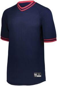 Holloway 221221 - Youth Retro V Neck Baseball Jersey