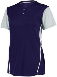 Russell 7R6X2X - Ladies Performance Two Button Color Block Jersey