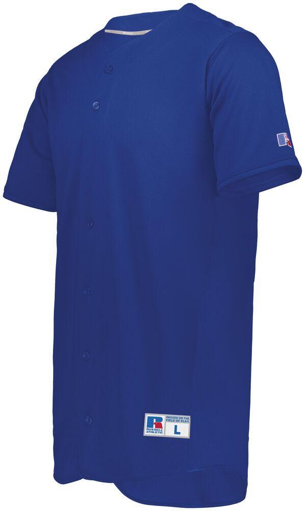 Russell 235JMM - Five Tool Full Button Front Baseball Jersey