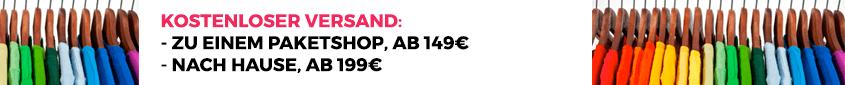Kostenloser versand bei einem bestellwert von mehr als 149€